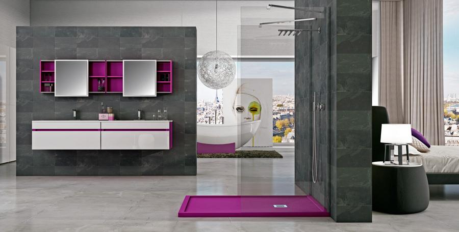 Dale vida a tu ba o con platos de ducha de colores - Diseno de banos con plato de ducha ...